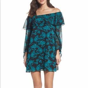 Sam Edelman Floral Off The Shoulder Shift Dress
